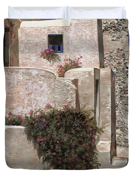 case a Santorini Duvet Cover by Guido Borelli