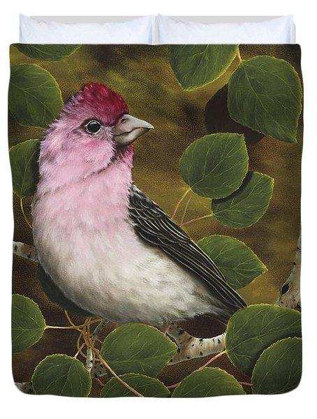 Cassins Finch Duvet Cover by Rick Bainbridge
