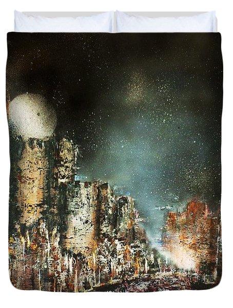 Castle Moonrise Duvet Cover by Kaye Miller-Dewing