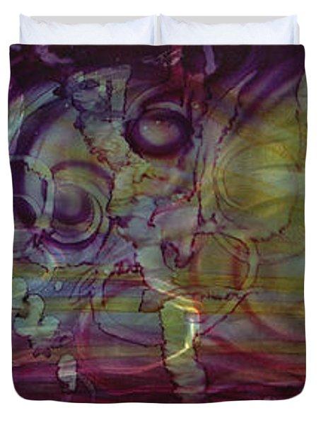 Castle Of Eden Duvet Cover by Luis  Navarro