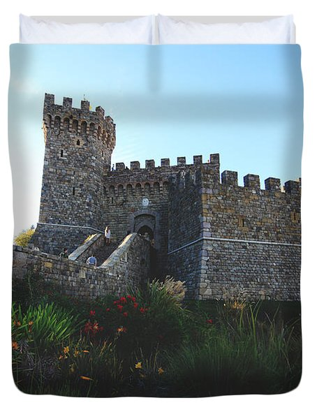 Castle Of Love Duvet Cover by Laurie Search