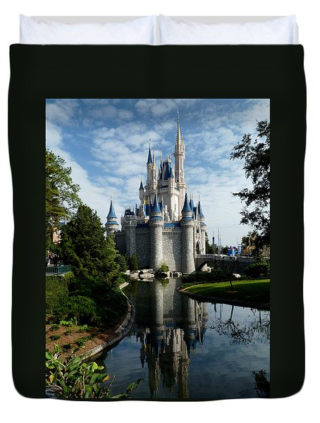 Castle Reflections Duvet Cover by Nora Martinez