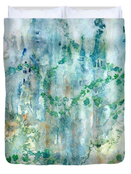 Castle Duvet Cover by Zaira Dzhaubaeva