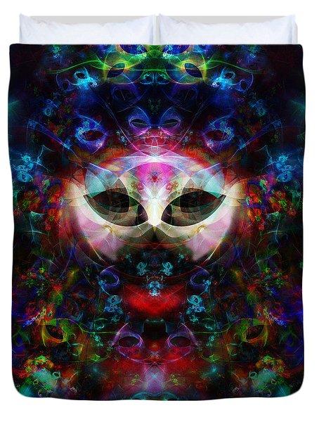 Cat Carnival Duvet Cover by Klara Acel