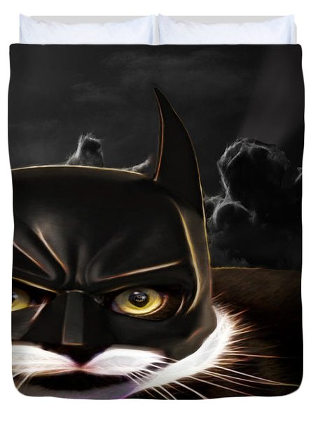 Cat Crusader Duvet Cover by Cheryl Young