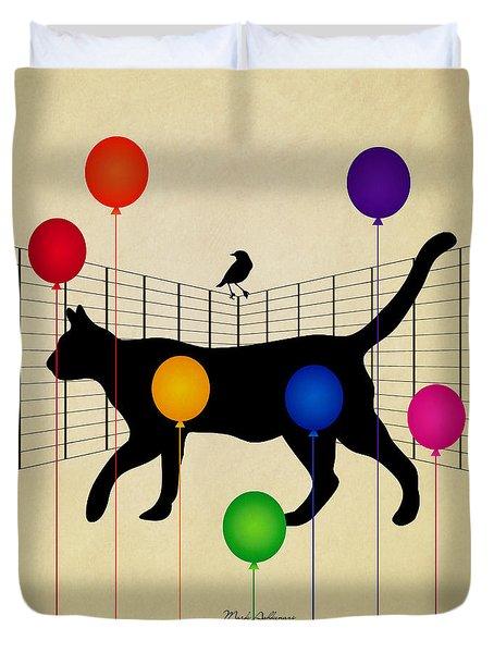 cat Duvet Cover by Mark Ashkenazi