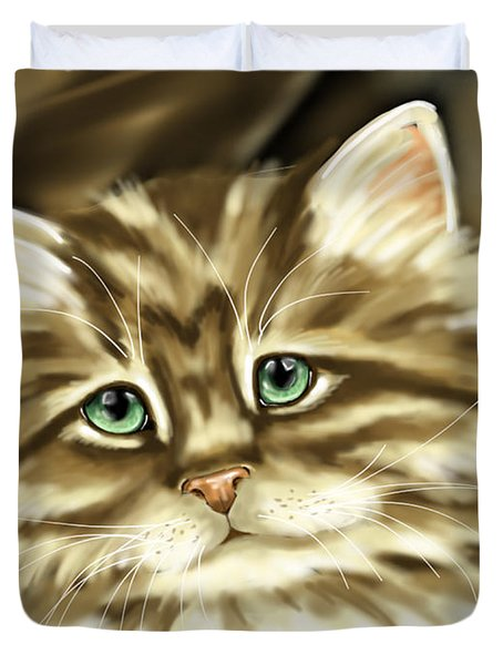 Cat Duvet Cover by Veronica Minozzi