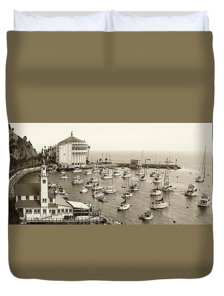 Catalina Island. Avalon Duvet Cover by Ben and Raisa Gertsberg