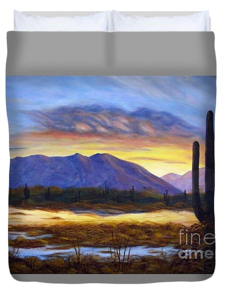 Catalina Sunrise Duvet Cover by Judy Filarecki