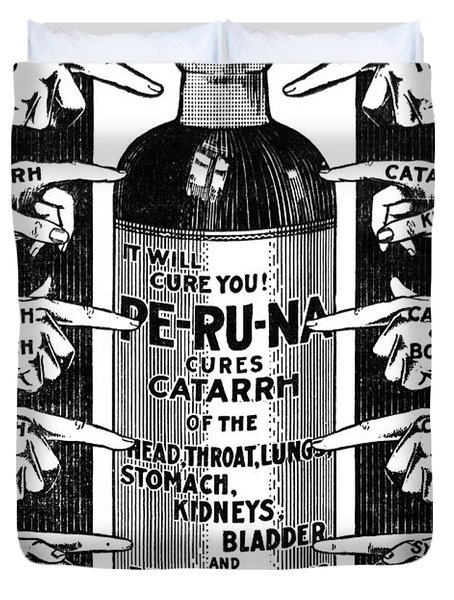 Catarrh Cure For What Ails You C. 1905 Duvet Cover by Daniel Hagerman
