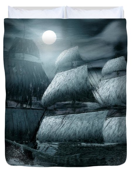 Catastrophic Collision  Duvet Cover by Lourry Legarde