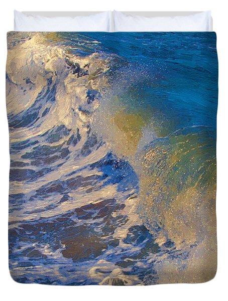 Catch A Wave Duvet Cover by John Haldane