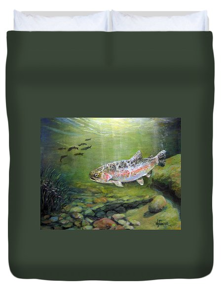 Catch It Duvet Cover by Donna Tucker