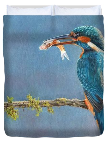 Catch Of The Day Duvet Cover by David Stribbling