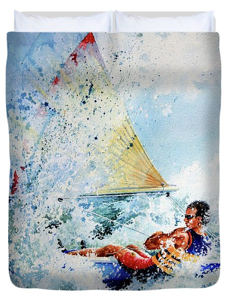 Catch The Wind Duvet Cover by Hanne Lore Koehler