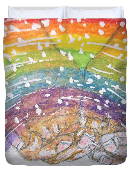 Catching A Rainbbow Duvet Cover by Kathy Marrs Chandler