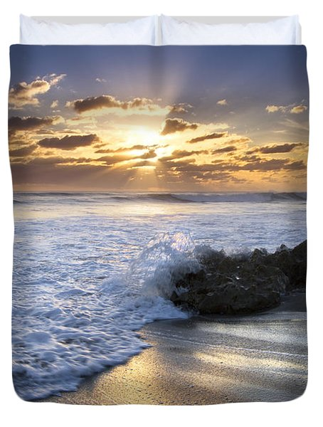 Catching The Light Duvet Cover by Debra and Dave Vanderlaan