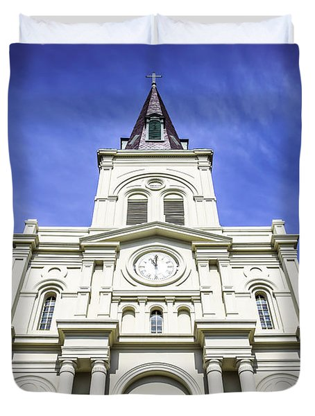 Cathedral-Basilica of St. Louis King of France Duvet Cover by Paul Velgos