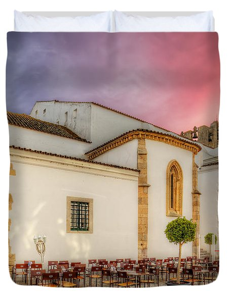 Cathedral Cafe Duvet Cover by English Landscapes