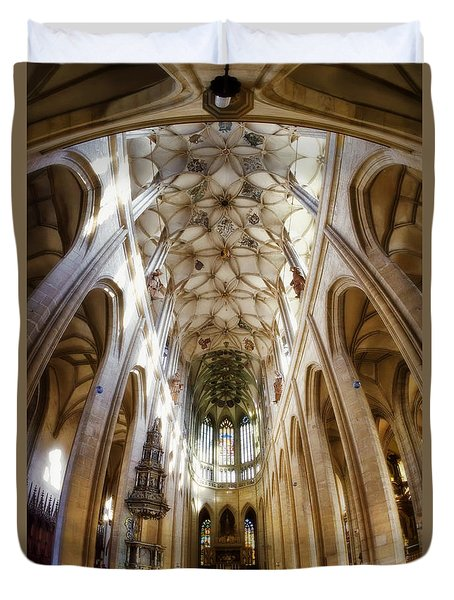 Cathedral Glow Duvet Cover by Joan Carroll