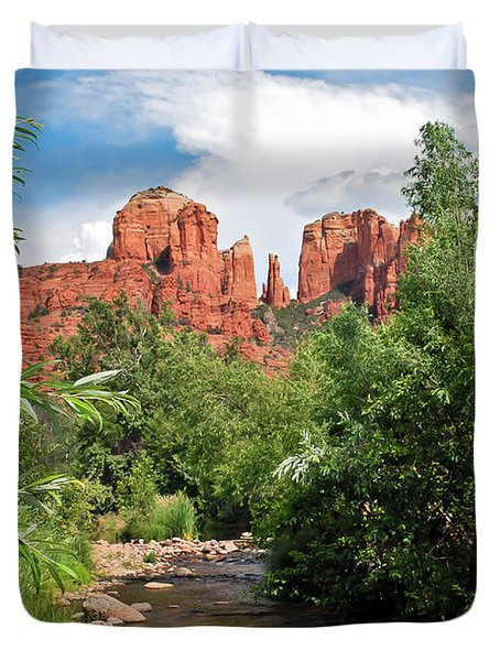 Cathedral Point - Sedona Arizona Duvet Cover by Gregory Ballos