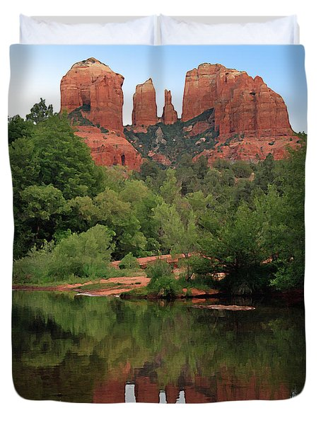 Cathedral Rock 1 Duvet Cover by Ellen Henneke