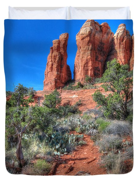 Cathedral Rock Duvet Cover by Lori Deiter