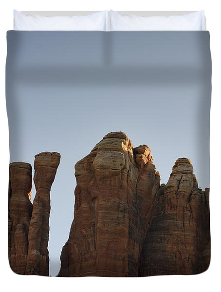 Cathedral Rock Spires Duvet Cover by David Gordon