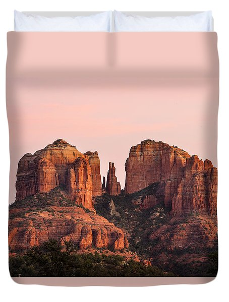 Cathedral Rock Sunset Duvet Cover by Mary Jo Allen