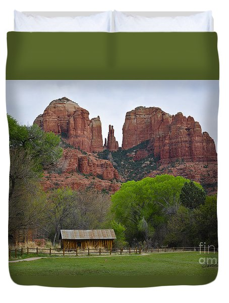Cathedral Rock V Duvet Cover by Dave Gordon