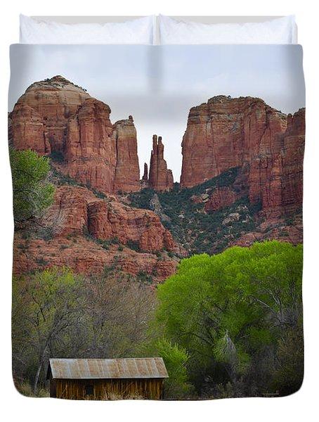 Cathedral Rock V Duvet Cover by David Gordon