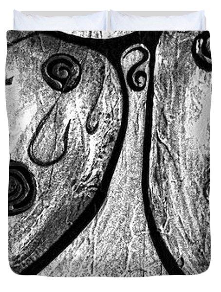 Cats 584 Duvet Cover by Marek Lutek