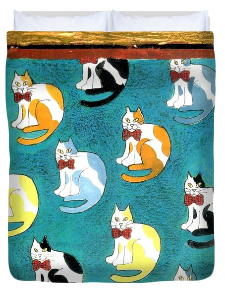Cats Duvet Cover by Genevieve Esson