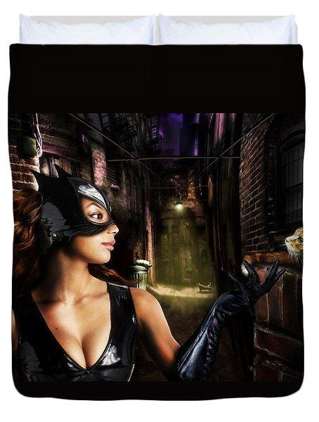 Catwoman Duvet Cover by Alessandro Della Pietra