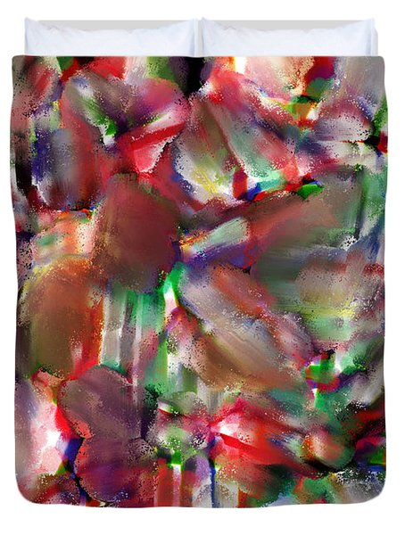 caught in the crowd water color and pastel Duvet Cover by Sir Josef  Putsche
