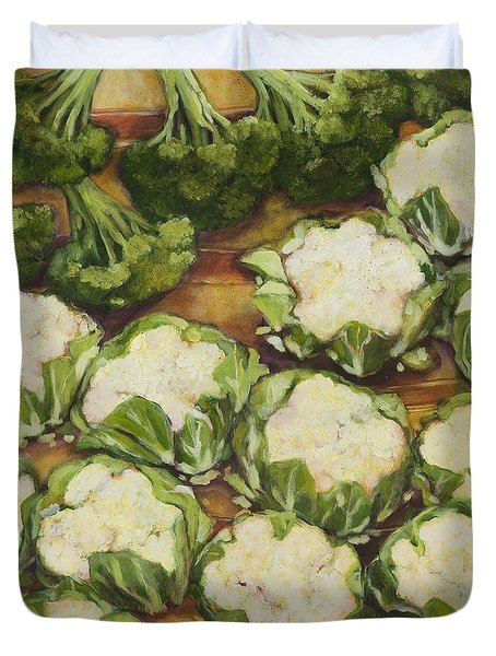 Cauliflower March Duvet Cover by Jen Norton