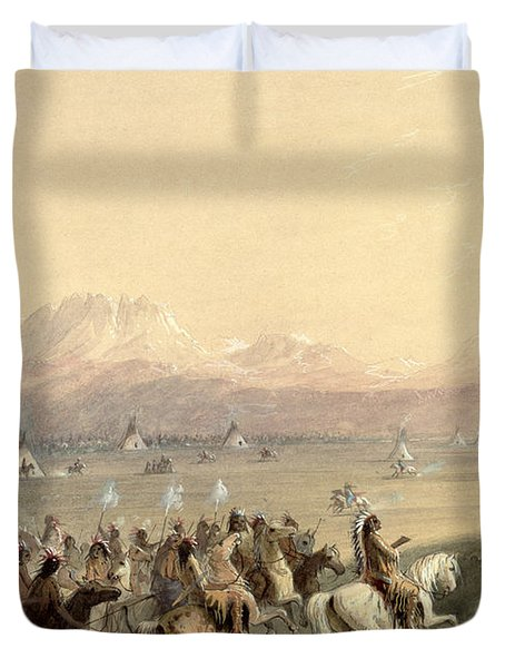 Cavalcade Duvet Cover by Alfred Jacob Miller