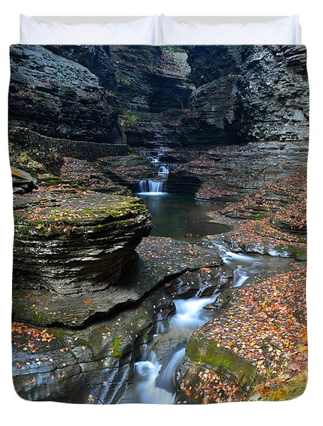 Cavernous Walls Duvet Cover by Frozen in Time Fine Art Photography