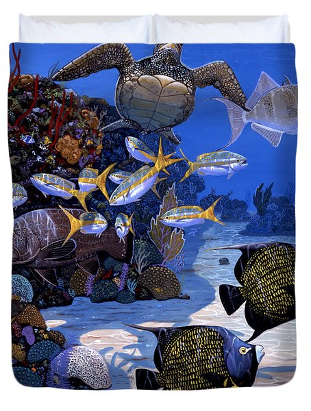 Cayman Reef Re0024 Duvet Cover by Carey Chen