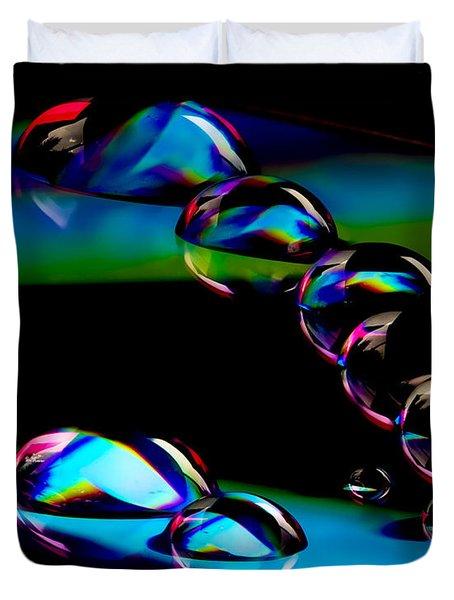 Cd Lineup Duvet Cover by Jean Noren