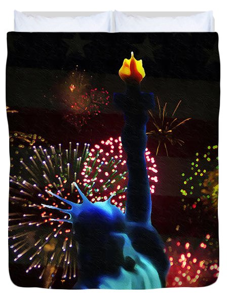 Celebrate America Duvet Cover by Bill Cannon