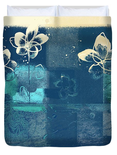 Celebrate - Blue3tx2 Duvet Cover by Variance Collections