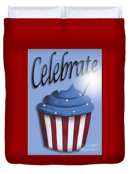 Celebrate the 4th / Blue Duvet Cover by Catherine Holman