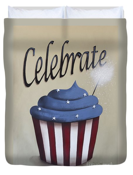 Celebrate The 4th Of July Duvet Cover by Catherine Holman