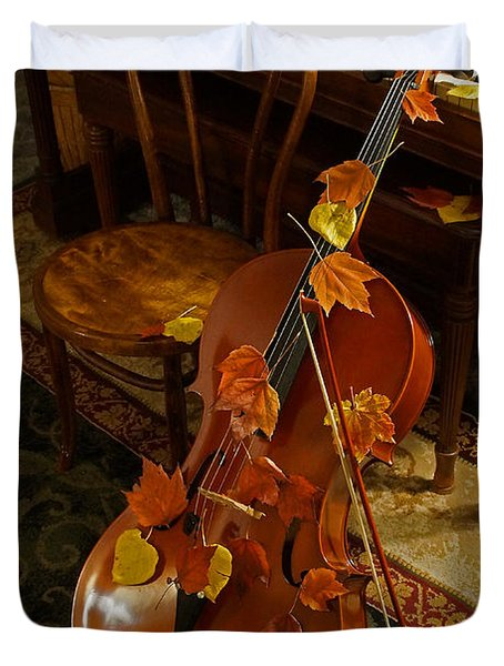 Cello Autumn 1 Duvet Cover by Mick Anderson