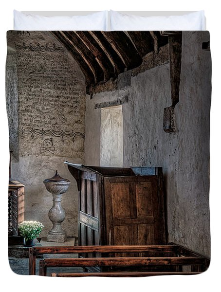 Celynnin Church v2 Duvet Cover by Adrian Evans