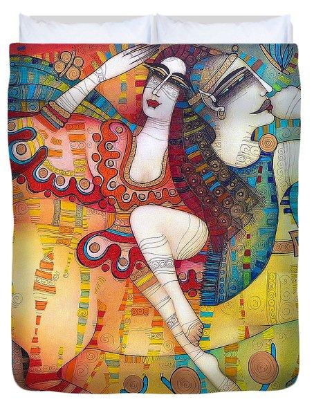 Centaur In Love Duvet Cover by Albena Vatcheva