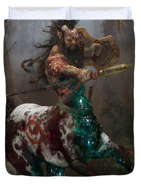 Centaur Token Duvet Cover by Ryan Barger
