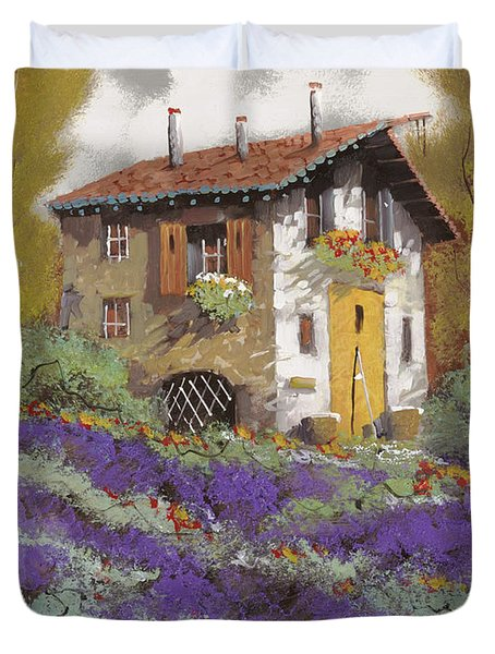 cento lavande Duvet Cover by Guido Borelli