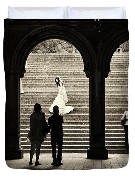 Central Park Bride Duvet Cover by Madeline Ellis